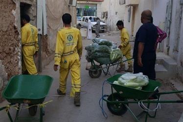 """""""أمانة الرياض"""" تصادر 8 بسطات لبيع الخضروات"""