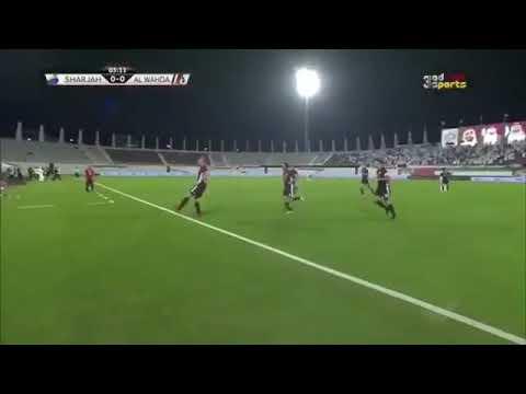 اهداف مباراة الوحدة ( 3 - 0 ) الشارقة دوري الخليج العربي