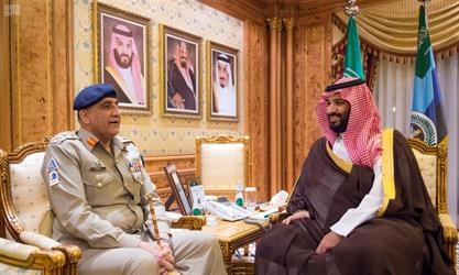 ولي العهد يجتمع بقائد الجيش الباكستاني