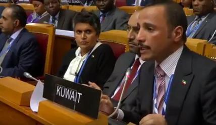 """وصفهم بالمحتلين قتلة الأطفال.. هجوم ناري من رئيس مجلس الأمة الكويتي على وفد الاحتلال """"الإسرائيلي"""" (فيديو)"""