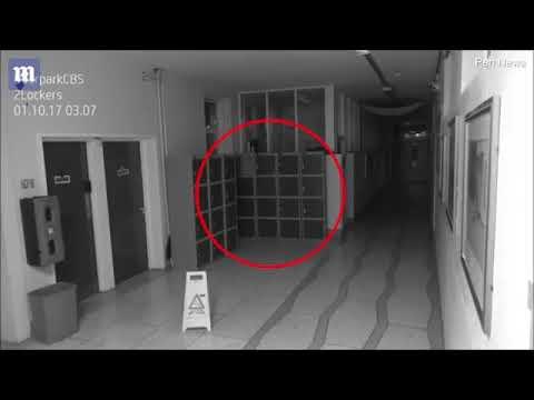 كاميرا مراقبة بمدرسة أيرلندية ترصد شيئاً غريباً.. هل هي أشباح ؟!