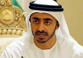 وزير خارجية الإمارات، الشيخ عبدالله بن زايد