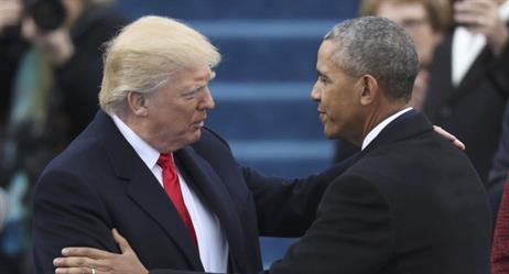 لأول مرة منذ رفض ترامب الإفصاح عنها.. الكشف عن فحوى الرسالة التي خلفها أوباما له في البيت الأبيض