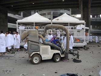 شاهد.. رفع 53 طناً من النفايات من مكة والمشاعر والمقدسة