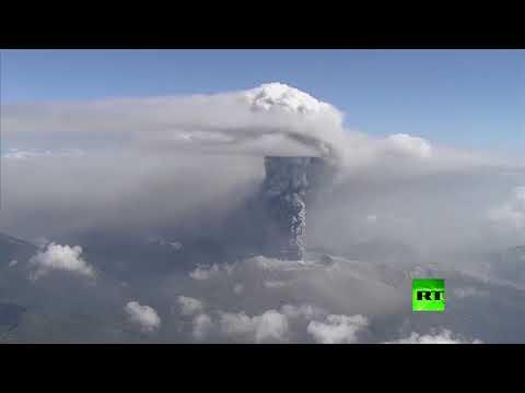 انفجار بركان في جنوب غرب اليابان