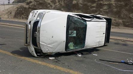 مصرع وإصابة 5 أشخاص إثر انفجار إطار مركبة بمكة المكرمة