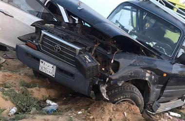 مصرع شخصين وإصابة ثلاثة في حادث تصادم بالقنفذة