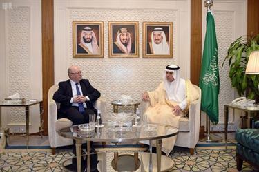 وزير الخارجية يستقبل وزير الدولة البريطاني لشؤون الشرق الأوسط وسفير ألمانيا الاتحادية لدى المملكة