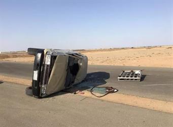 إصابة 7 أشخاص إثر حادث انقلاب مروع بمحافظة جدة