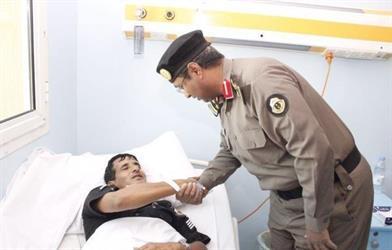 إصابة رجل أمن في حادث دهس بمحايل عسير