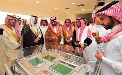 الأمير عبدالعزيز بن تركي الفيصل يفتتح منشأة التعاون الجديدة