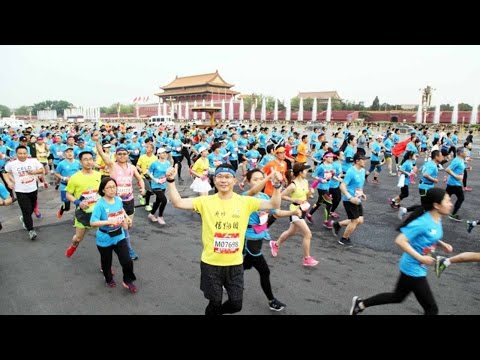 أكثر من 21 ألف متسابق يتنافسون في مهرجان بكين الدولي للجري